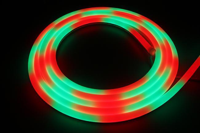 buy popular 51022 d6333 LuxaLight Long Life LED Neon Flex Top View WS2812B Digital SPI RGB (24  Volt, 60 LEDs, 5050, IP67)