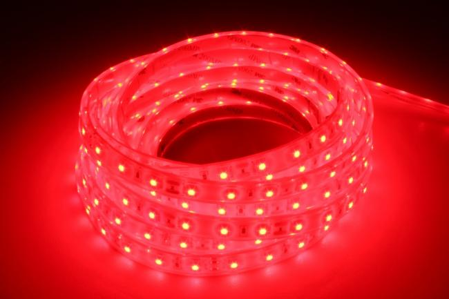 luxalight long life led strip rood waterdicht 12 volt 60 leds 3528 ip68