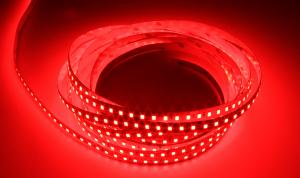 LuxaLight Long Life LED Strip Red Indoor (24 Volt, 120 Leds, 2835, IP20)