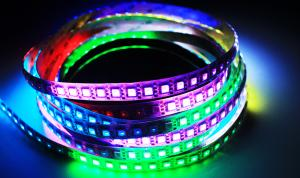 Luxalight Long Life LED Strip WS2812 12V Digital RGB Protected High Power (12 Volt, 96 Leds, 5050, IP64)