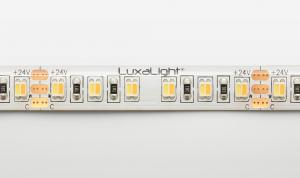 LuxaLight Long Life LED-strip Warm White 2500K - Cool White 8700K Color Temperature Protected (24 Volt, 240 LEDs, 3527, IP64)