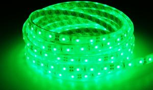 LuxaLight Long Life LED-strip Green Waterproof (12 Volt, 60 LEDs, 3528, IP68)