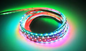 LuxaLight Long Life LED Strip WS2812B Digital RGB Indoor High Power (5 Volt, 60 LEDs, 5050, IP20)