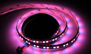 LuxaLight Long Life LED-Strip WS2812B Digital RGB Indoor High Power (5 Volt, 144 Leds, 5050, IP20)