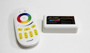 12 Volt/24 Volt 3x6A LED-strip RGB-Controller + Remote 4-Zone