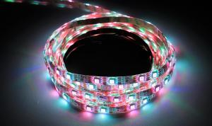 LuxaLight Long Life LED Strip WS2812B Digital RGB High Power Beschermd (5 Volt, 60 LEDs, 5050, IP64)