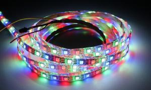 LuxaLight Long Life LED Strip WS2812B Digital RGBW High Power Beschermd (5 Volt, 60 Leds, 5050, IP64)
