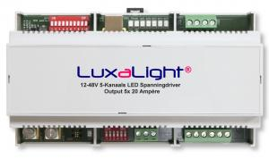 Voltage Driver LuxaLight 5 channel 20 Amp with DMX512 control