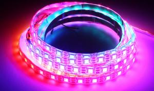 LuxaLight Long Life LED Strip WS2812 (GS8208) 12V Digital RGB Protected High Power (12 Volt, 60 Leds, 5050, IP64)