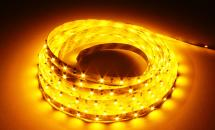 LuxaLight Long Life LED Strip Geel Indoor (12 Volt, 60 Leds, 3528, IP20)