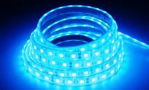 LuxaLight Long Life LED-strip Blue Waterproof High Power (12 Volt, 60 LEDs, 5050, IP68)