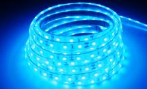 LuxaLight Long Life LED Strip Blauw Waterdicht (12 Volt, 60 Leds, 3528, IP68)