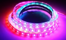 LuxaLight Long Life LED-strip WS2812 (GS8208) 12V Digital SPI RGB Protected High Power (12 Volt, 60 LEDs, 5050, IP64)